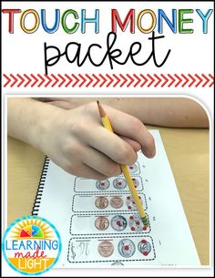 This touch money packet includes several anchor charts, pre-requisite skill worksheets, and counting coins with and with out touch points. There are over 50 worksheets! Click to find out more! #touchmoney #coins #touchmath #specialeducation #middleschool #highschool #learningmadelight Teaching Money, Teaching Tips, Touch Math, Counting Coins, Self Contained Classroom, Education Information, Learn To Count, Special Education Classroom, How To Make Light