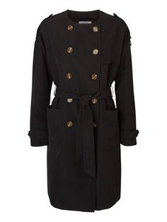 Black trench coat from VERO MODA.