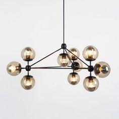 New Roll&Hill MODO Chandelier 3 sided 10 globes chandelier-modern lighting Home Lighting, Modern Lighting, Lighting Design, Pendant Lighting, Funky Lighting, Lighting Stores, Pendant Lamps, Studio Lighting, Globe Pendant