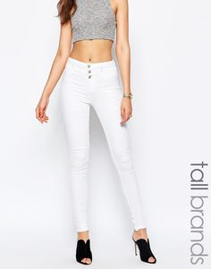 Image 1 ofNew Look Tall High Waist Supersoft Skinny Jean