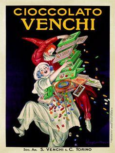 Leonetto Cappiello Italian Cioccolato Venchi Chocolate Giclee Print