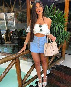 Outfits con Falda de Jean