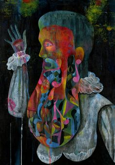 """Olaf Hajek, painting fro the solo show """"The King has lost his Crown"""" at AJL ARTS Gallery in Berlin November/December 2012"""