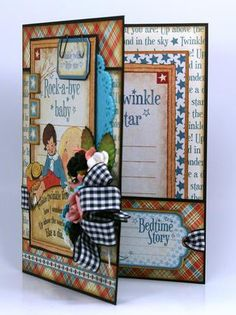Mother Goose baby card