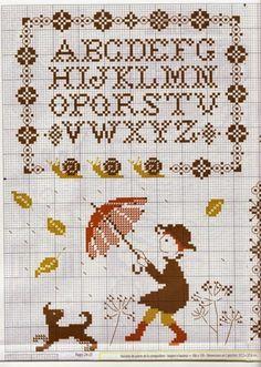 Gallery rain, part 2 Cross Stitch Sampler Patterns, Cross Stitch Samplers, Cross Stitching, Cross Stitch Embroidery, Embroidery Patterns, Stitch Patterns, Cross Stitch Letters, Cross Stitch Love, Cross Stitch Charts