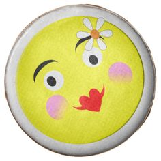 A fun design with cute smiley faces in the style of trendy emoji displaying happy and funny emotions on yellow faces with party balloons. Fabulous party cookies suitable for any age and any gender; popular with young adults and teenagers.