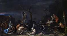 Color & Light - Salvator Rosa - Witches at their Incantation -...