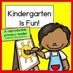 Perfect for back to school or calming first day jitters, Kindergarten Is Fun! is a book that shows many of the fun activities you do at school. Easy to customize, and easy to read! TpT$
