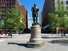 12 / 16 A bronze statue of Moses Cleaveland surveys the newly renovated Public Square.