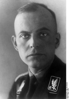 Hans-Adolf Prützmann (1901-1945) was an SS and Police Leader and a Waffen-SS-Obergruppenführer. He was a senior Nazi in the administration of Latvia following the German conquest of that country in 1941, and was involved in carrying out the Holocaust in the Baltic States. After the war, Prützmann was arrested as a war criminal and committed suicide while in custody. His remorseless, cold eyes in this 1934 photograph are chilling.