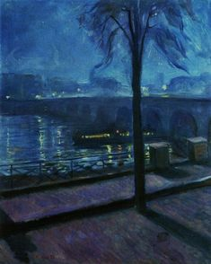 """Night in Saint-Cloud"" by Edvard Munch, 1890"