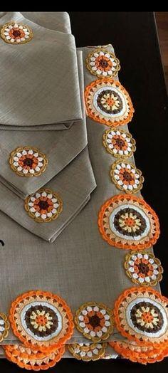 Crochet Table Runner Pattern, Crochet Placemats, Crochet Coaster Pattern, Crochet Edging Patterns, Vintage Crochet Patterns, Crochet Squares, Crochet Motif, Crochet Designs, Crochet Doilies