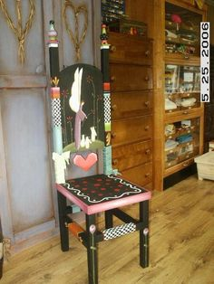 Funky Hand Painted Furniture | Hand painted furniture / funky chair