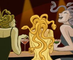 Medusa, along with her sisters, Stheno and Euryale the only reason I know this is because of Percy Jackson