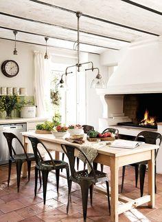 provencal farmhouse kitchen - dining