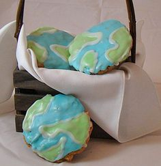Earth Day Globe Cookies!