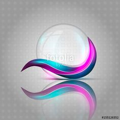 Vettoriale: Clear bubble with colorful lines