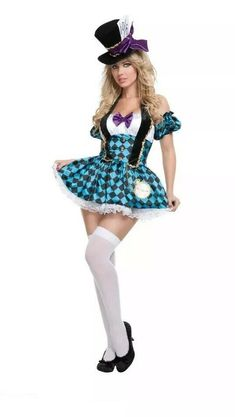 Halloween Costumes Ideas For Women Adult. Mad Hatter Costumes For Women. Sexy Halloween Costumes, Halloween Kostüm, Adult Costumes, Costumes For Women, Party Costumes, Costumes Kids, Halloween Makeup, Women's Mad Hatter Costume, Female Mad Hatter