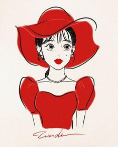 Copic Drawings, Kpop Drawings, Art Drawings, Cute Illustration, Character Illustration, Girl Cartoon, Cartoon Art, Chibi, Digital Art Girl