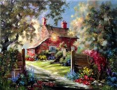 Brick cottage by Marty Bell
