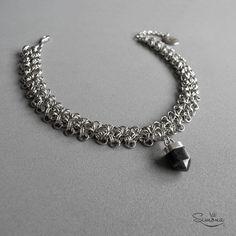 Choker Azalea. Cristal de Obsidiana Negra.