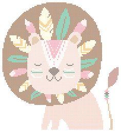 Baby Cross Stitch Patterns, Baby Knitting Patterns, Cross Stitch Designs, Tapestry Crochet Patterns, Crochet Wall Hangings, Tribal Animals, Cross Stitch Kitchen, Cross Stitch Animals, Crochet Chart