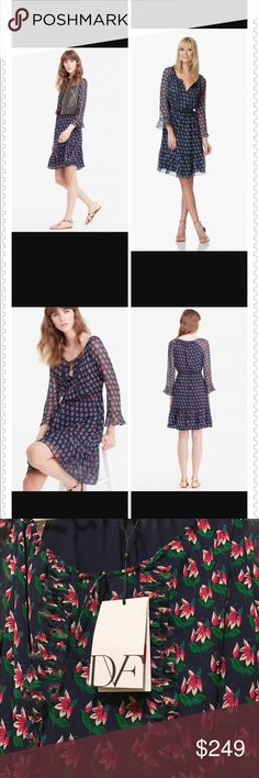 😀🤗SLOD🤗😀not for sale 🎀🎀DVF Simonia Dress NWT DVF Simonia Dress, Size 2, Silk, New with tag Diane von Furstenberg Dresses