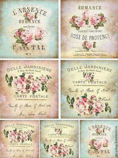 French Victorian Rose Labels