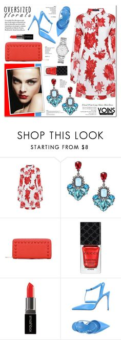 """""""Yoins 4 - Oversized Florals"""" by anyasdesigns ❤ liked on Polyvore featuring Gucci, Smashbox, Le Silla, Marc by Marc Jacobs, yoins, yoinscollection and loveyoins"""