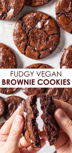 Dairy Free Brownies, Dairy Free Cookies, Easy Vegan Cookies, Egg Less Cookies, Easy Vegan Snack, Egg Less Brownies, Pie Brownies, Zucchini Brownies, Vegan Cupcakes