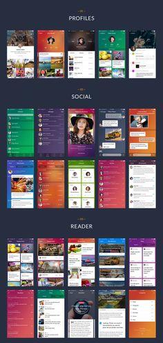 Fresh & stylish mobile UI kit