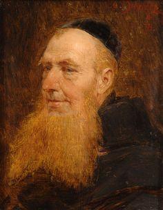 Monk with Red Beard - Eduard von Grützner Bald With Beard, Red Beard, Old Monk, Trimming Your Beard, Slow To Speak, Religion, Beard Look, Beard Care, Bearded Men
