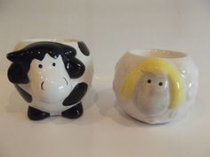 SHEEP EGG CUP COW EGG CUP FARMYARD ANIMAL EGG CUPS in Collectables, Kitchenalia, Egg Cups   eBay