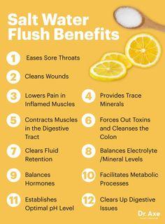 Salt water flush benefits - Dr. Axe http://www.draxe.com #health #Holistic #natural