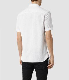 3bf3e908178b Hommes Waycross Short Sleeved Shirt (Dark Ink) - product image alt text 3  All Saints Men