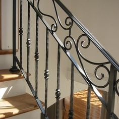 wrought iron staircase vines - Google Search