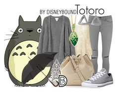 """""""Totoro"""" by leslieakay ❤ liked on Polyvore featuring Frame Denim, Monki, Lucky Brand, The Limited, Converse, Palm Beach Jewelry, Paul Smith and Coco's Liberty"""