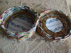 Saját munka/my own works_kerek tárolódoboz. Papírfonás Paper weaving