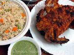 Grilled Tandoori Chicken, Tandoori Marinade, Tandoori Masala, Garam Masala, Chicken Flavors, Chicken Recipes, Big Tray, Rotisserie Grill, Vegetarian Side Dishes