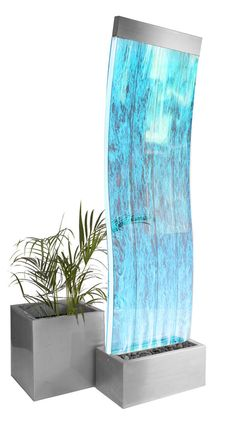 Cosmo Curved Bubble Water Feature Wall | Colour Changing LEDs Indoor Fountain