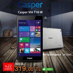 #enuzungece ' Özel İndirimler Cazipalisveris.com 'da ..!! Casper Via T18-W Windows10 İşletim Sistemli Tablet