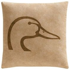 Ducks Unlimited Plaid Collection Square Throw Pillow - Tan
