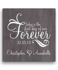 Personalized Planet First Day of Our Forever Personalized Wrapped Canvas | zulily