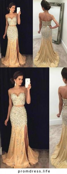 Sexy Prom Dress Mermaid Evening Dress Split Side Prom Dress Long Prom Dresses, This dress could be custom made, there are no extra cost to do custom size and color Dinner Gowns, Wedding Store, Mermaid Evening Dresses, Prom Girl, Formal Dresses, Wedding Dresses, Homecoming Dresses, Dress Long, Clothes For Women