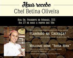 Àgua de Arcanjo com Chef Betina Oliveira em Haus Burger Bar! Que combinação..... não perca...deguste!