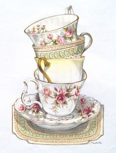 cute tea stack - thanks Google for finding this amazing artist for me!