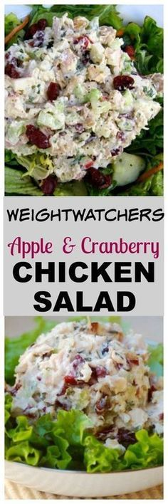 Chicken Salad with Apples & Cranberries Weight Watchers Chicken Salad with Apples & Cranberries Recipe with SmartPoints.Weight Watchers Chicken Salad with Apples & Cranberries Recipe with SmartPoints. Chicken Salad With Apples, Chicken Salad Recipes, Recipe Chicken, Weight Watcher Chicken Salad Recipe, Chicken Salad Without Mayo, Low Calorie Chicken Salad, Chicken Salaf, Chicken Salad Recipe Easy Healthy, Low Cal Chicken Recipes