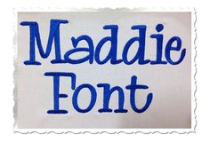$2.95Maddie Machine Embroidery Font Alphabet