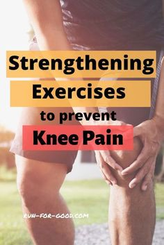 These exercises for knee pain can reduce the risk of knee issues by strengthening the muscles that support and stabilize the knee. #kneepain #runnersknee