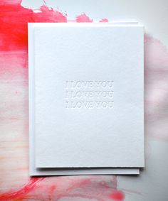 I Love You Letterpress Card. $3.00, via Etsy.